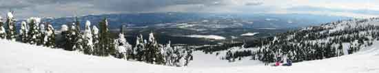 Enjoy fabulous panoramic vistas on Easy Out ski run.